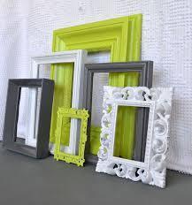 modern bedroom decorating ideas upcycle lime green grey white frames set of  upcycled frames modern bedroom de