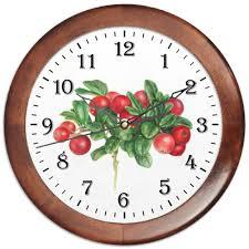 Часы круглые из дерева <b>Сочная брусника</b> #2488864 от ...
