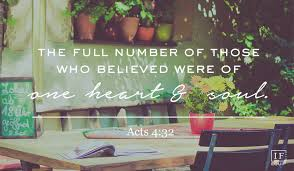 Image result for Acts 4:32  - scripture