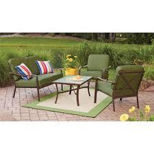 crossman piece outdoor bistro:  mainstays crossman  piece patio conversation set green seats