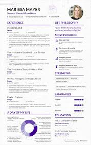 make your content look as good as this cv from yahoo s ceo marissa er resume