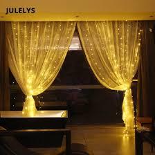 Shop <b>JULELYS 6M x</b> 4M 768 Bulbs LED Curtain Lights Garland ...