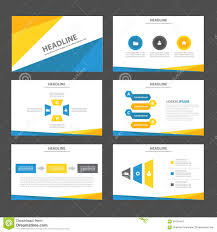 abstract blue yellow infographic element and icon presentation abstract blue yellow infographic element and icon presentation templates flat design set for brochure flyer leaflet