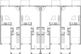 Fourplex House Plans  Story Townhouse  Bedroom Townhouse  PMain Floor Plan for F  Fourplex house plans  story townhouse