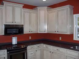 Painted Glazed Kitchen Cabinets Best White Glazed Kitchen Cabinets Ideas All Home Design Ideas