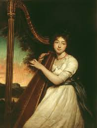 bp spotlight william hazlitt through the eyes of a critic tate james northcote a young lady playing the harp exhibited 1814