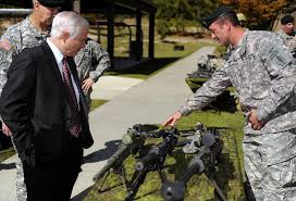 u s department of defense photo essay defense secretary robert m gates receives a sniper weapons brief from a special forces sergeant