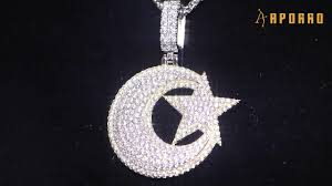 Aporro <b>New</b> Drops | Iced Star and Crescent Pendant <b>collection</b> | <b>925</b> ...