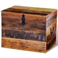 Anself <b>Reclaimed Solid</b> Wood <b>Storage Box</b>- Buy Online in Cayman ...