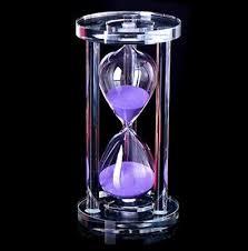 Hourglass Glass <b>Crystal</b> Timer <b>Sand Colorful</b> Duration Tempo 3 ...