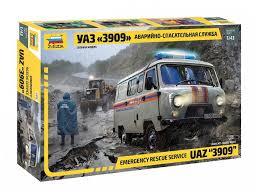 <b>Сборная модель ZVEZDA УАЗ</b> 3909 Аварийно-спасательная ...