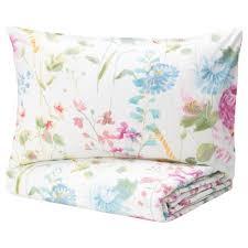 GRÄSVIAL Comforter set, <b>3</b>-<b>pieces</b> - flower - IKEA