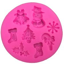 <b>Christmas Snowman Shape</b> fondant silicone mold kitchen baking ...