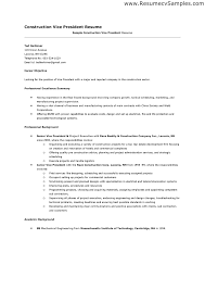 example of construction resume template example of construction resume