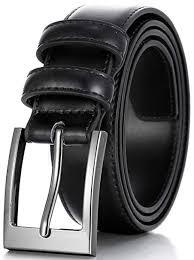 Marino's <b>Men Genuine Leather</b> Dress Belt with Single Prong Buckle ...