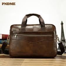 <b>PNDME</b> genuine leather handbag briefcase <b>business</b> casual men's ...
