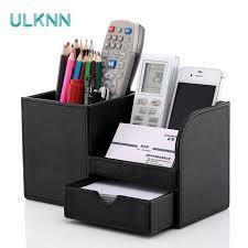 Multifunctional Office PU <b>Leather Pen Holder</b> Creative Fashion ...
