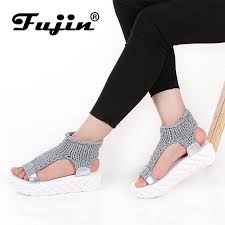<b>Fujin Brand 2019 Summer</b> Shoes For Women Platform Sandals With ...