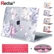 <b>Redlai</b> Floral Print Hard <b>Case Sleeve Cover For Apple Macbook</b> Pro ...
