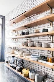 Kitchen Open Shelves 17 Best Ideas About Open Shelving On Pinterest Open Shelf
