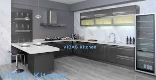 quality kitchen cabinets high gloss grey