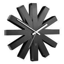 <b>Часы настенные ribbon</b> чёрныe - купить по супер цене в Домельер