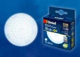 <b>Лампа</b> светодиодная (UL-00005313) <b>Uniel GX53 10W 6500K</b> ...
