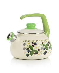 <b>Чайник эмалированный со</b> свистком 2,5л Ежевика купить в ...