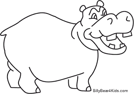 Small Picture Coloring Pages Hippo For Preschoolers To Print Free Kids clarknews