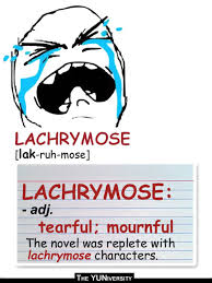 "The YUNiversity — Know Your (Vocabulary) Meme: ""Lachrymose"" via Relatably.com"