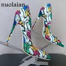 8 10 <b>12CM</b> Women Patent Leather Pumps Pointed Toe <b>High Heels</b> ...