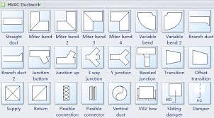 standard hvac plan symbols and their meaningshvac ductwork symbols