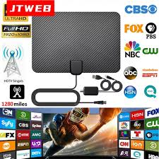 JTWEB 2020 <b>HDTV</b> Antenna Satellite Receiver Indoor <b>2000 Miles</b> ...