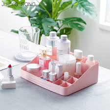 JULY'S SONG <b>1PC Makeup Organizer Cosmetic Storage</b> Container ...