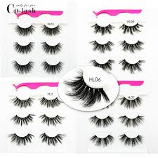 <b>Colash</b> Faux <b>Mink</b> Eyelashes +tweezers Super Long 25mm 3 <b>pair</b> ...