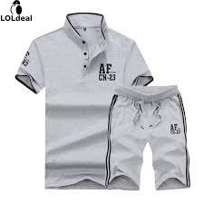 loldeal summer shirt set men