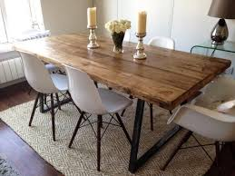 quality small dining table designs furniture dut: vintage industrial dining ft farmhouse table amp bench amp  eames chairs included in business