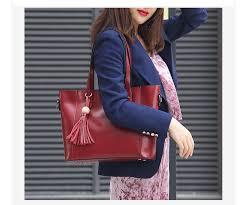 Zency <b>Large Capacity</b> Women Shoulder <b>Bag</b> With Tassel 100 ...