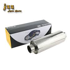 JZZ High Quality Silver Stainless Steel <b>Muffler Tail Pipe Exhaust</b> End ...