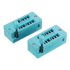 <b>6pcs IC Lock Seat</b> Zif Socket Test Universal zif Sockets 14Pin ...