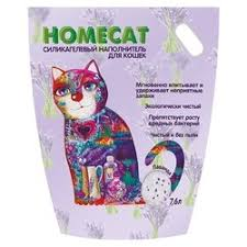 <b>Homecat Лаванда силикагелевый</b> впитывающий <b>наполнитель</b> с ...