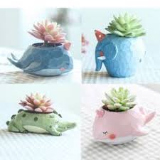 <b>Roogo</b> 6 Cute Prince Succulent <b>Planter Pots</b> Resin Little <b>Boy</b> ...