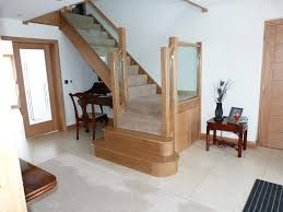 011 oak staircase glass balustrading bespoke glass staircase