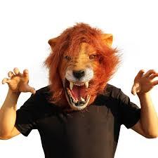 2019 <b>Halloween</b> Props <b>Adult</b> Angry <b>Lion</b> Head Masks Animal Full ...