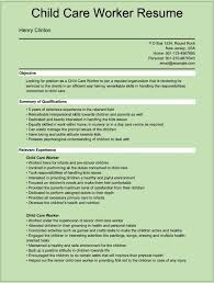 resume for child care assistant template resume for childcare
