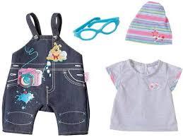 BABY born <b>Одежда</b> Джинсовая для куклы 43 см <b>Zapf Creation</b> 822 ...