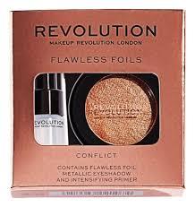 тени и праймер makeup revolution flawless foils conflict 2 г мл