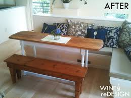 project breakfast nook table wine redesign breakfast nook table