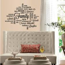 wall decal family art bedroom decor walmart  cbc aca a fe fefd dabfddffedcfaca