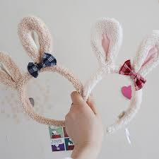 10.28 cute cartoon sugar rabbits Prince rabbit <b>lattice</b> bow r | Shopee ...
